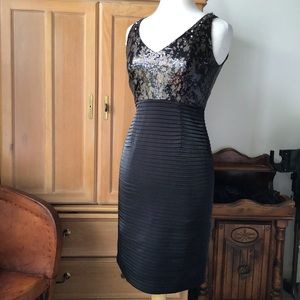 KAY UNGER EMBELLISHED COCKTAIL DRESS